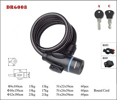 DR6008 Spiral Cable Lock