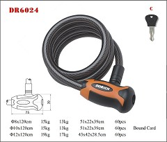 DR6024 Spiral Cable Lock